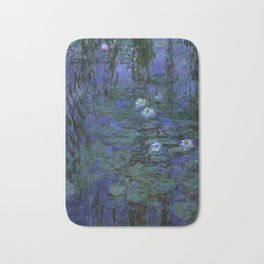 Blue Water Lilies Monet 1916- 1919 Bath Mat
