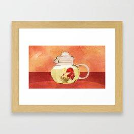 Beta Fish Tea by Kenzie McFeely Framed Art Print