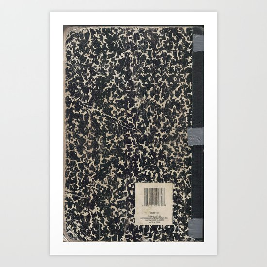 Notebook Art Print