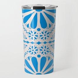 Fiesta de Flores in Party Blue Travel Mug