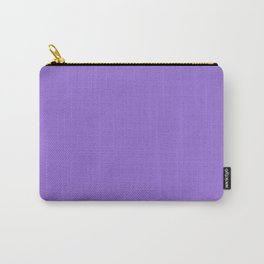 Dark Chalky Pastel Purple Solid Color Carry-All Pouch