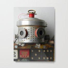 Scrap Bot (Close up) Metal Print