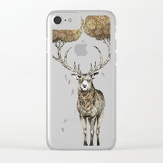 Asteroid Brain Diagnostics // (metaphysical deer) Clear iPhone Case