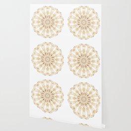 Gold Light Mandala - Boho Chic Energy Art Wallpaper