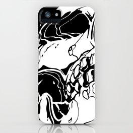 Carnibal / Ink Skull / White iPhone Case