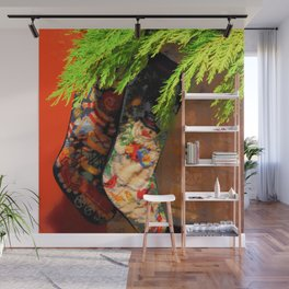 The Stockings were Hung Wall Mural