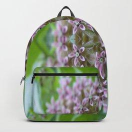 Kaleidoscope Pink Milkweed Flower Macro Photograph Backpack
