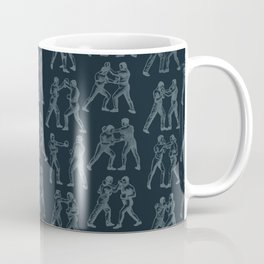 Round One STEEL BLUE / Vintage boxers Coffee Mug