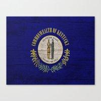 kentucky Canvas Prints featuring Kentucky by C Liza B