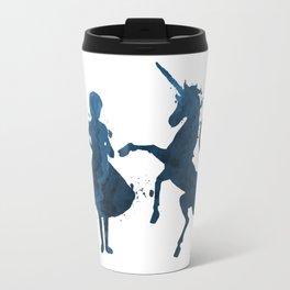 Child and unicorn Travel Mug