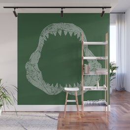 Distressed Jaw Wall Mural