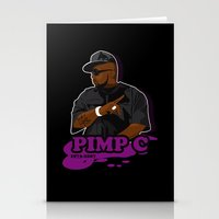 chad wys Stationery Cards featuring Chad 'Pimp C' Butler by Chad Trutt