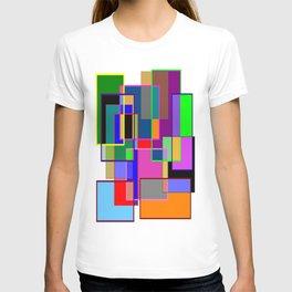 Colour collage white T-shirt