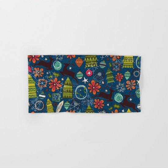 joyous jumble indigo Hand & Bath Towel