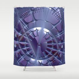 I've lost the sense of time Shower Curtain