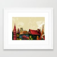 cities Framed Art Prints featuring Cities by Elisa Gandolfo