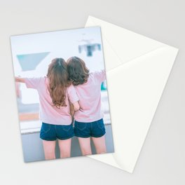 Young Lesbian Couple Stationery Cards