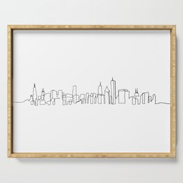 Chicago Skyline Drawing Serving Tray