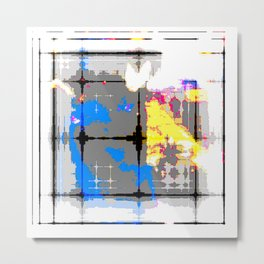 glitch abstract Metal Print