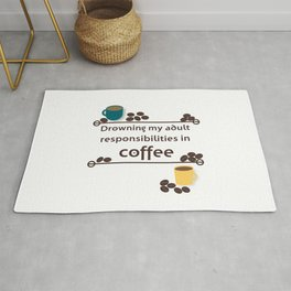 Drowning in Coffee Rug