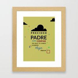 Precioso Padre Framed Art Print