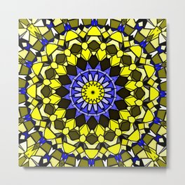 Sun catcher mosaic Metal Print