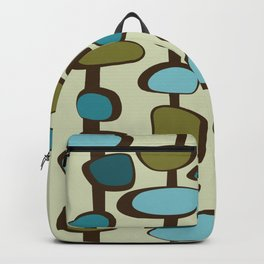 Mid Century Modern Baubles (teal) Backpack