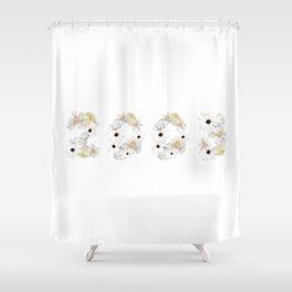 White Flower 2003 Shower Curtain