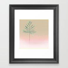 Pink & Palm Framed Art Print
