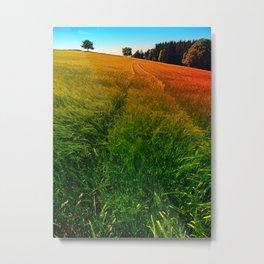 Waving fields of spring Metal Print