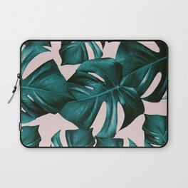 Monstera Leaves Pattern #4 #tropical #decor #art #society6 Laptop Sleeve