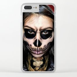 Halloween skull Clear iPhone Case