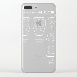 Subaru Pedal Diagram Clear iPhone Case