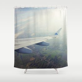 High above me Shower Curtain