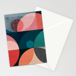 Abstraction_NEW_SHAPE_SCANDINAVIAN_POP_ART_222AS Stationery Cards