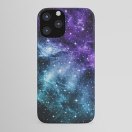 Purple Teal Galaxy Nebula Dream #1 #decor #art #society6 iPhone Case