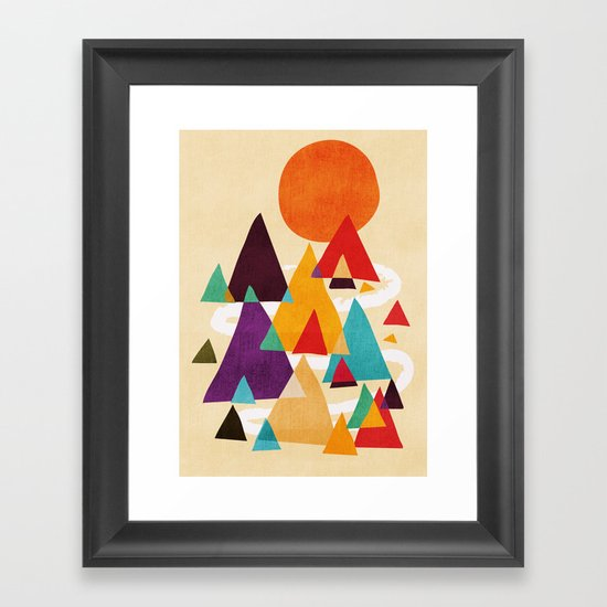 Let's visit the mountains Framed Art Print