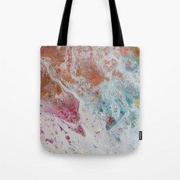 WHITE WASH | Fluid abstract art by Natalie Burnett Art Tote Bag