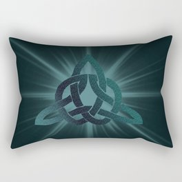 Celtic knot starburst Rectangular Pillow