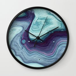 Minty Marble Wall Clock