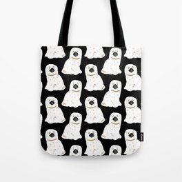 Staffordshire Dog Figurines No. 1 in Black Tote Bag