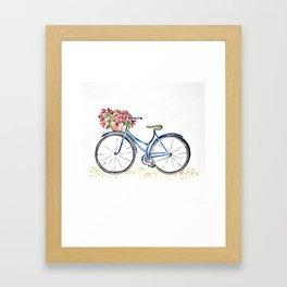 Spring bicycle Framed Art Print