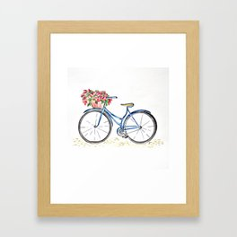 Spring bicycle Framed Art Print