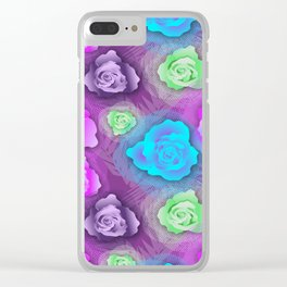 Roses&Tulle Clear iPhone Case