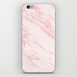 pink rose marble iPhone Skin