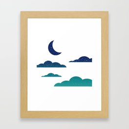 Starry Clouds Framed Art Print