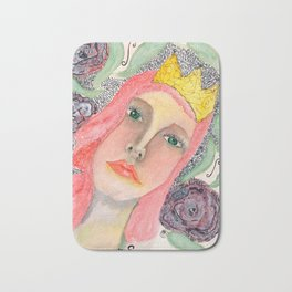 Pink hair Queen Bath Mat