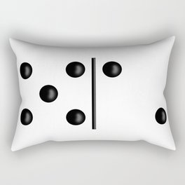 White Domino / Domino Blanco Rectangular Pillow