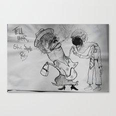 Smelly Canvas Print