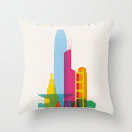Shapes of Hong Kong. Accurate to scale Throw Pillow